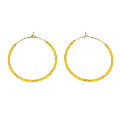 Lullu - gule mini perler øreringe