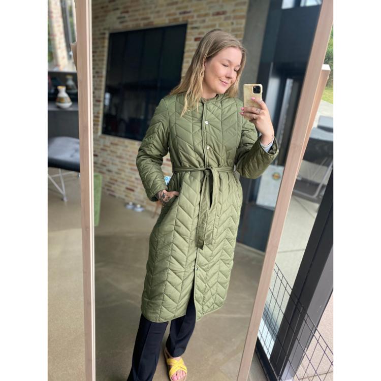 Pcfawn lang jakke